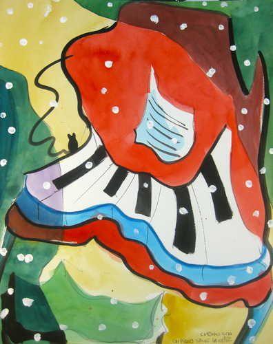 Un piano sur la neige II