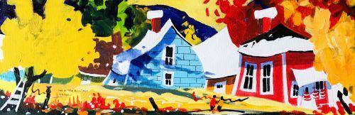 Dans le coeur du village