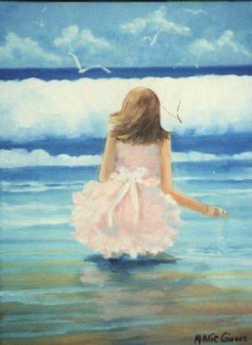 Petite fille à la mer!