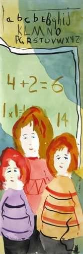 Trio d'écolières