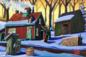A SUGAR SHACK IN THE SNOW