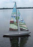 Maquette de voilier miniature & Voiles peintes!