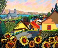 Sunflowers for Château-Richer by Louise Marion