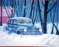 Snowbound blue!