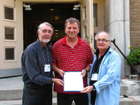 Serge remporte le prix Jean-Paul Lapointe lors du symposium de Danville - édition 2009