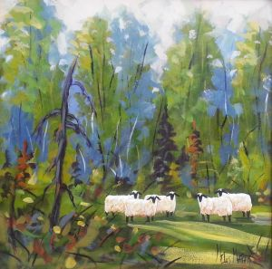 Near the woods, 24 x 24 Sold