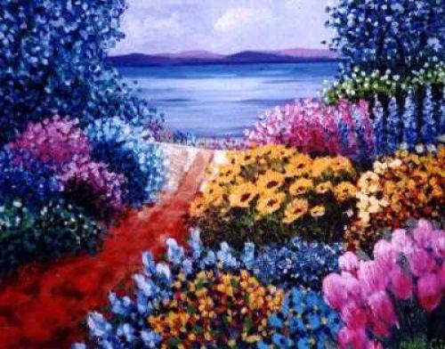 Poésie de fleurs vers le fleuve!