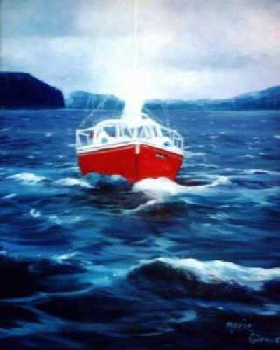 Le voilier rouge!