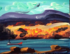 Thumb box painting automne aux éboulements