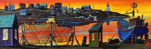 END OF THE DAY ON PEGGY'S COVE