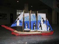 Petite maquette - voilier en bois de grève