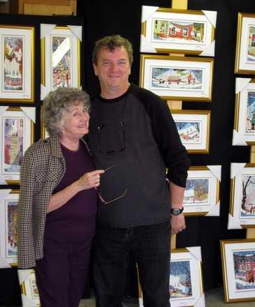 Serge en compagnie de Mme Louisette Dussault, marraine de la dixième édition du Chemin des Artisans